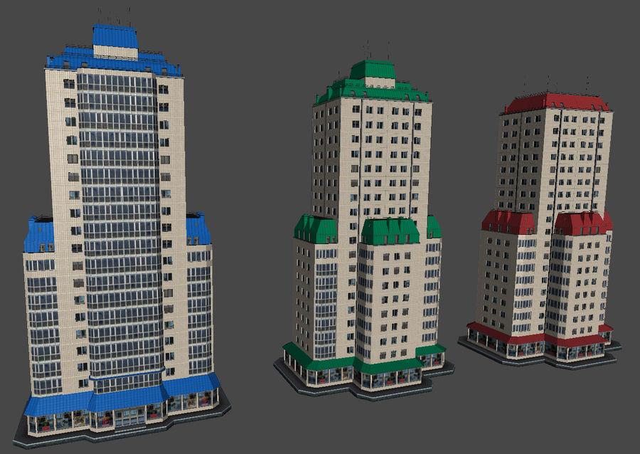 都市の建物 royalty-free 3d model - Preview no. 29