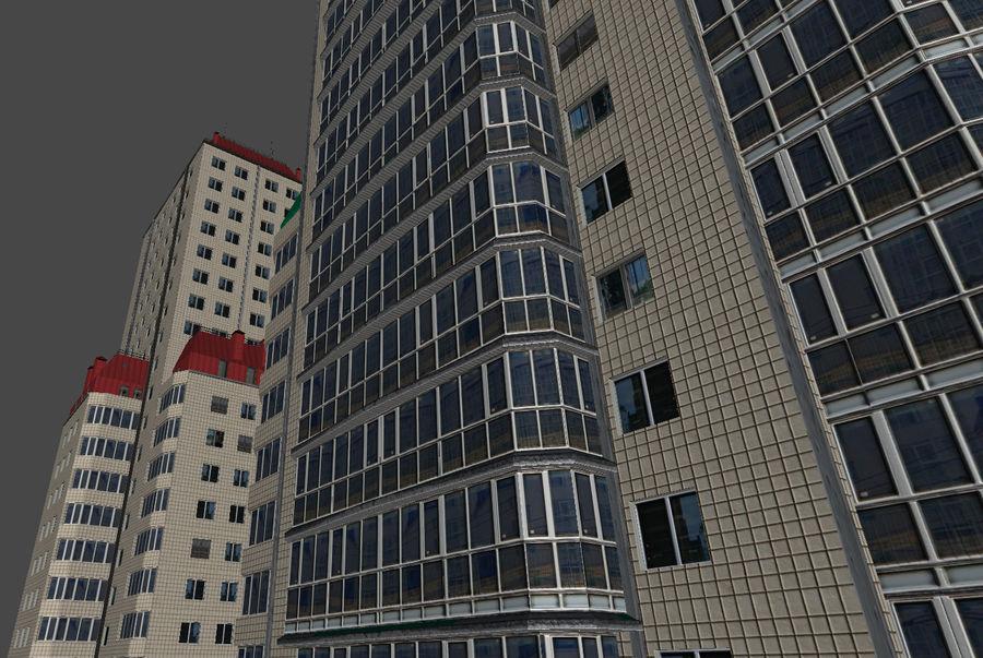 都市の建物 royalty-free 3d model - Preview no. 25