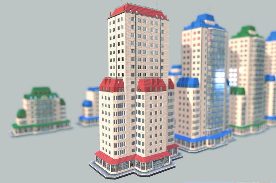都市の建物 royalty-free 3d model - Preview no. 15