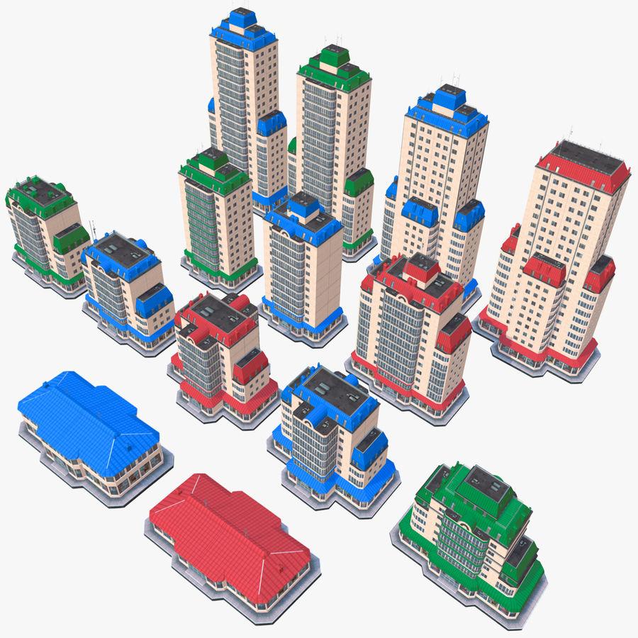 都市の建物 royalty-free 3d model - Preview no. 1