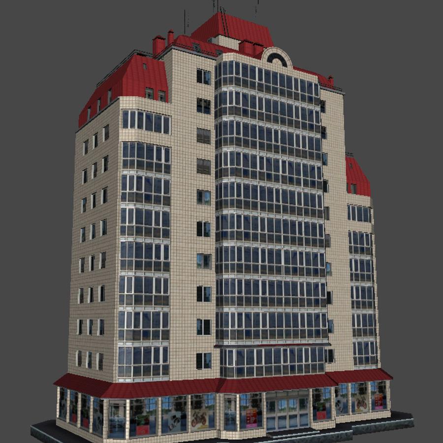 都市の建物 royalty-free 3d model - Preview no. 21