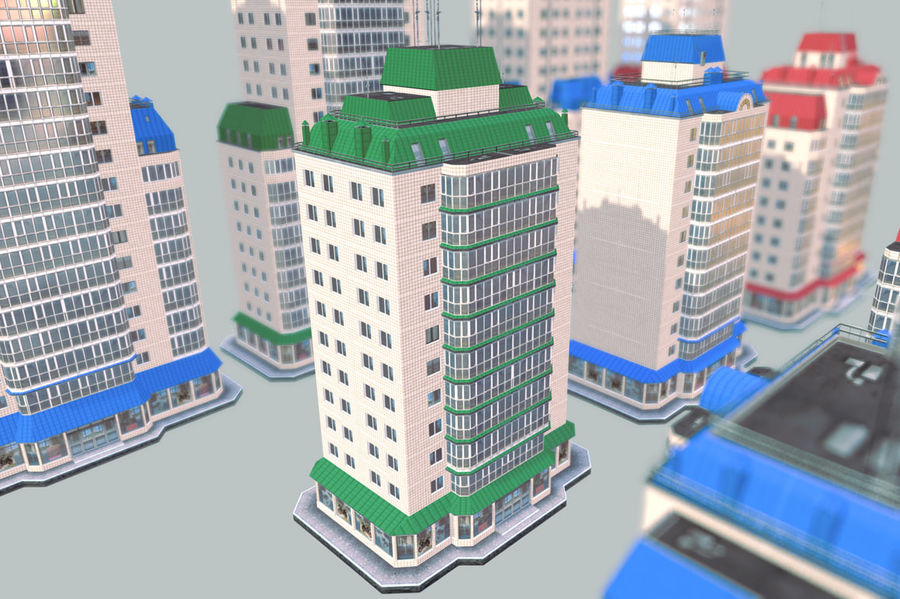 都市の建物 royalty-free 3d model - Preview no. 14