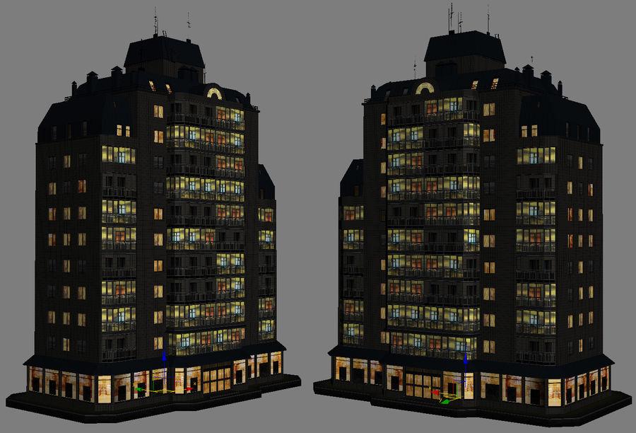 都市の建物 royalty-free 3d model - Preview no. 23