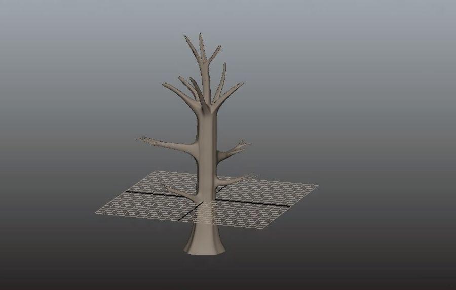 葉とアニメの木 royalty-free 3d model - Preview no. 3