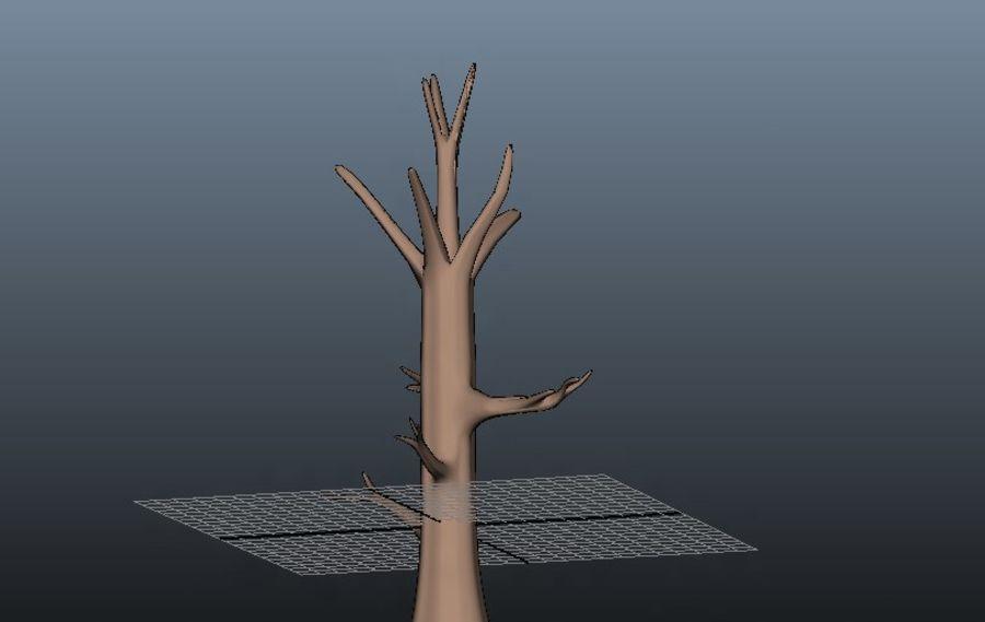 葉とアニメの木 royalty-free 3d model - Preview no. 5