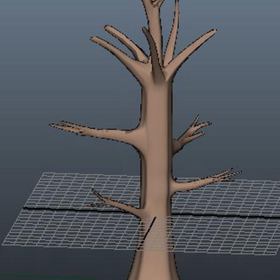 葉とアニメの木 royalty-free 3d model - Preview no. 1