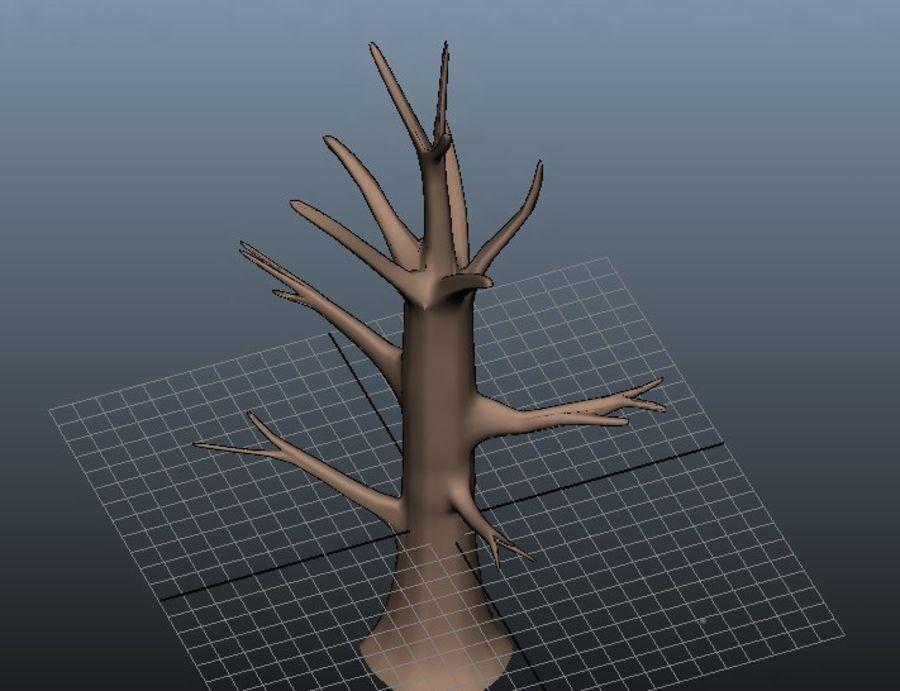葉とアニメの木 royalty-free 3d model - Preview no. 2