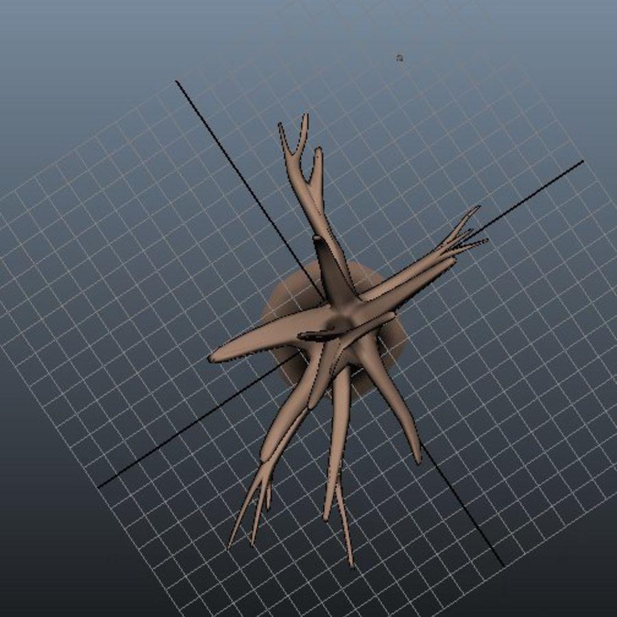 葉とアニメの木 royalty-free 3d model - Preview no. 4