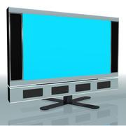 televisão 3d model