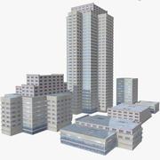 近代都市の建物パック 3d model