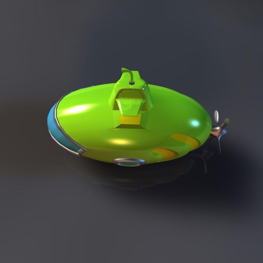 Kireç Yeşili Oyuncak Denizaltı royalty-free 3d model - Preview no. 6