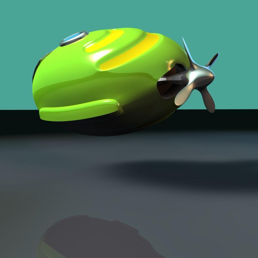 Kireç Yeşili Oyuncak Denizaltı royalty-free 3d model - Preview no. 10