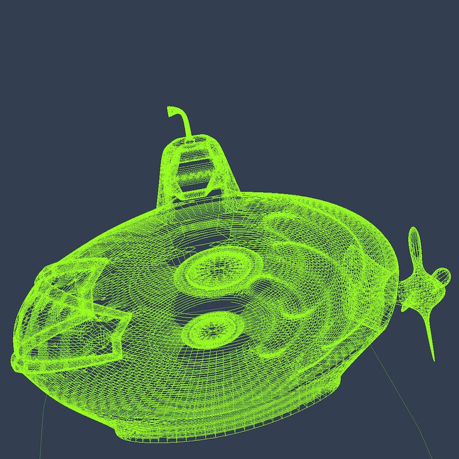 Kireç Yeşili Oyuncak Denizaltı royalty-free 3d model - Preview no. 14