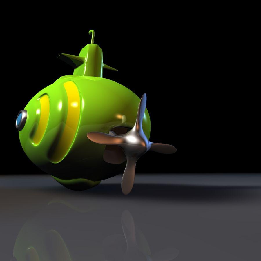 Kireç Yeşili Oyuncak Denizaltı royalty-free 3d model - Preview no. 4