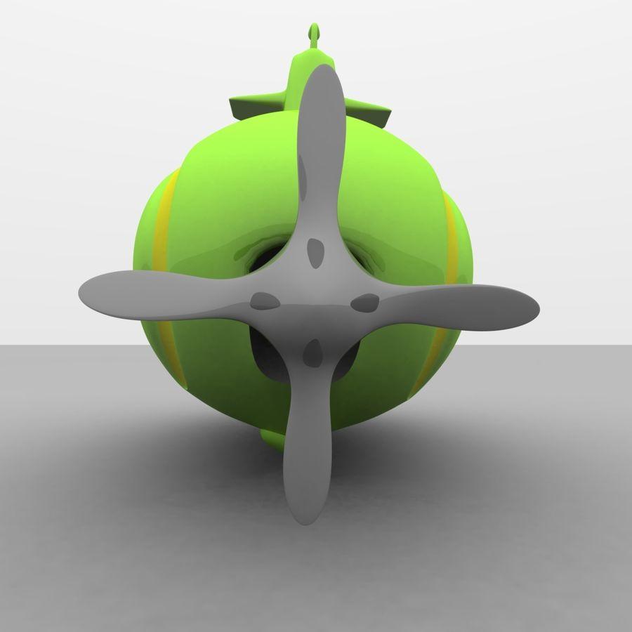 Kireç Yeşili Oyuncak Denizaltı royalty-free 3d model - Preview no. 12