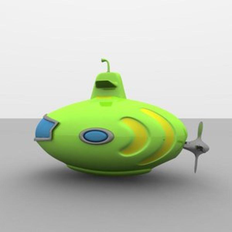 Kireç Yeşili Oyuncak Denizaltı royalty-free 3d model - Preview no. 1