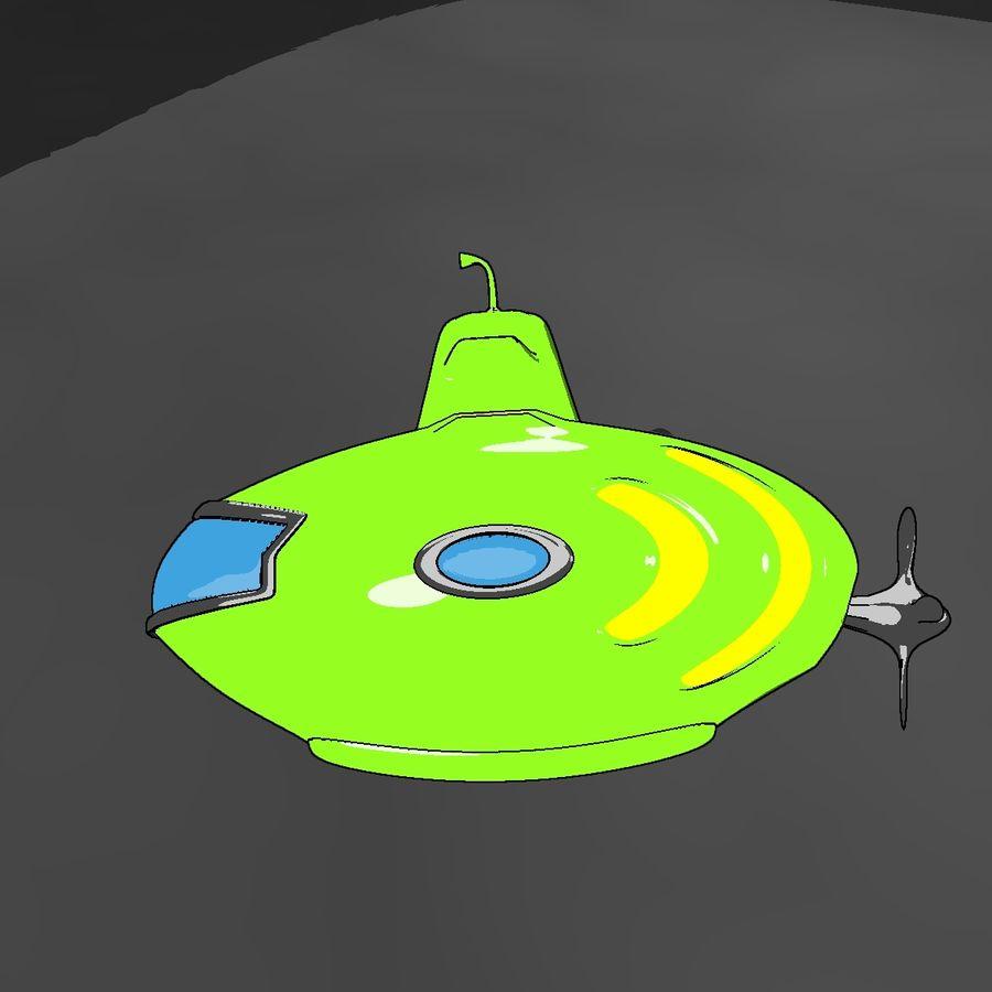 Kireç Yeşili Oyuncak Denizaltı royalty-free 3d model - Preview no. 13