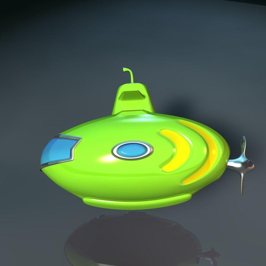 Kireç Yeşili Oyuncak Denizaltı royalty-free 3d model - Preview no. 8