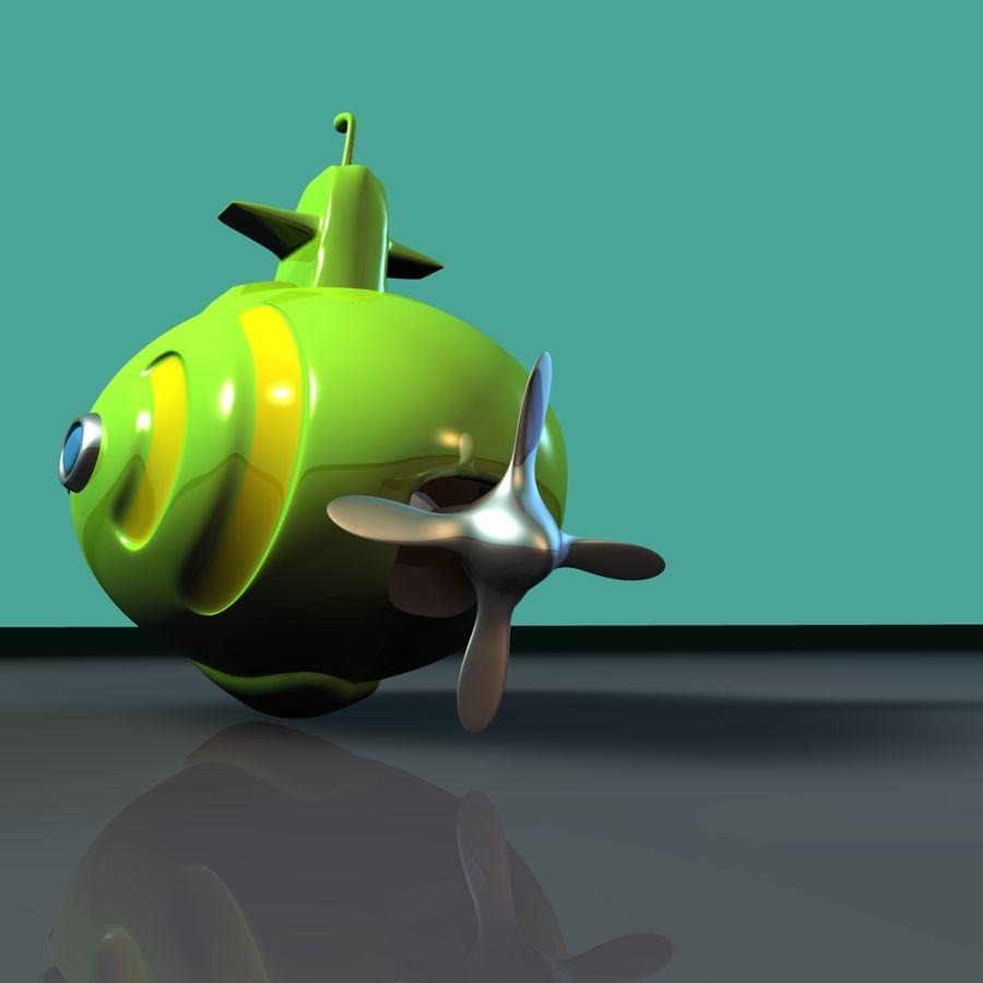 Kireç Yeşili Oyuncak Denizaltı royalty-free 3d model - Preview no. 3