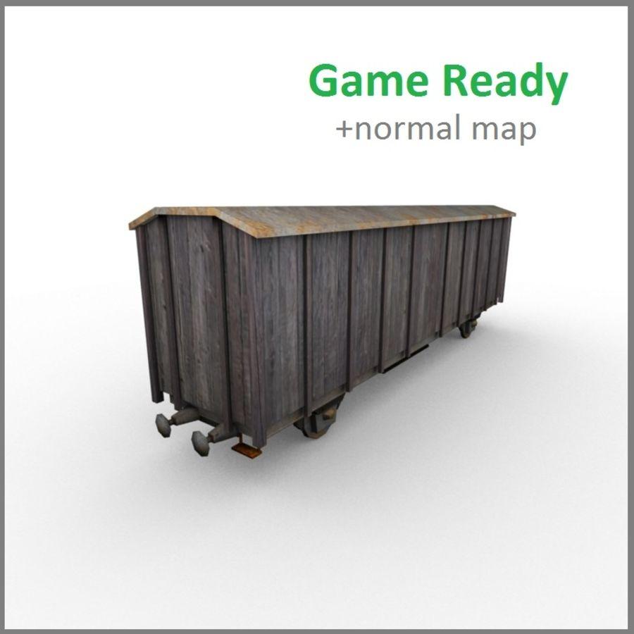 기차 수레 royalty-free 3d model - Preview no. 1