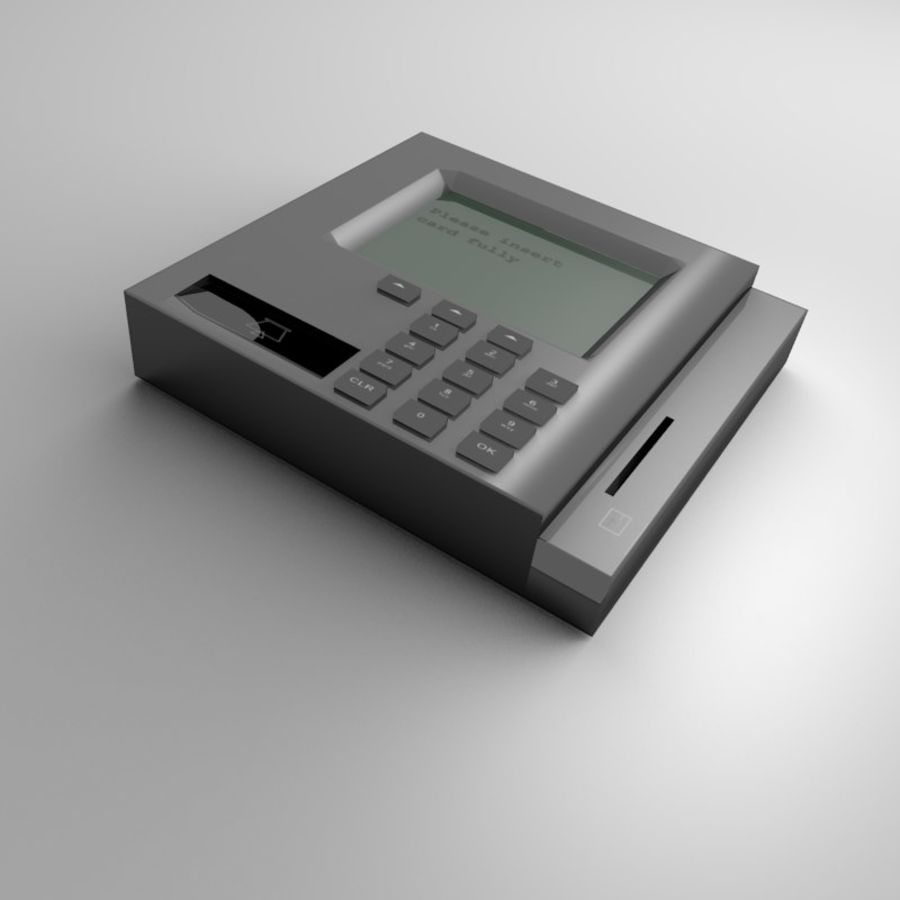 信用卡读卡器 royalty-free 3d model - Preview no. 3