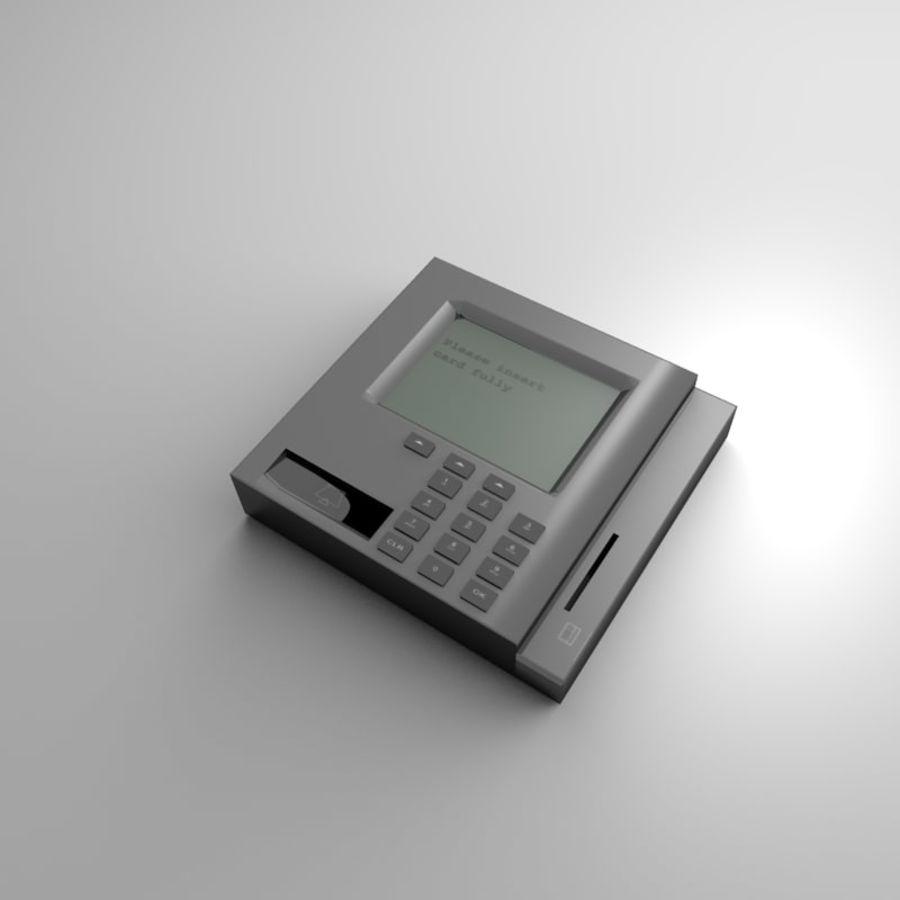 信用卡读卡器 royalty-free 3d model - Preview no. 2