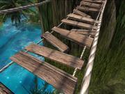 Lowpolyロープブリッジ-高齢者の吊り橋 3d model