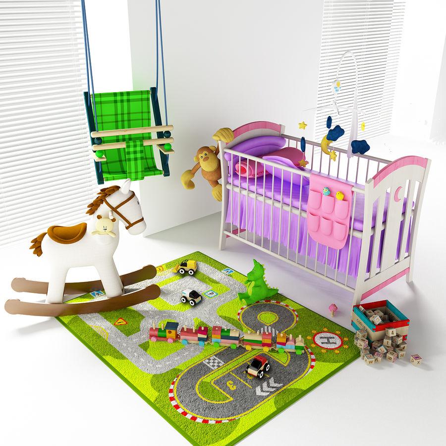 Cadeiras para crianças royalty-free 3d model - Preview no. 3