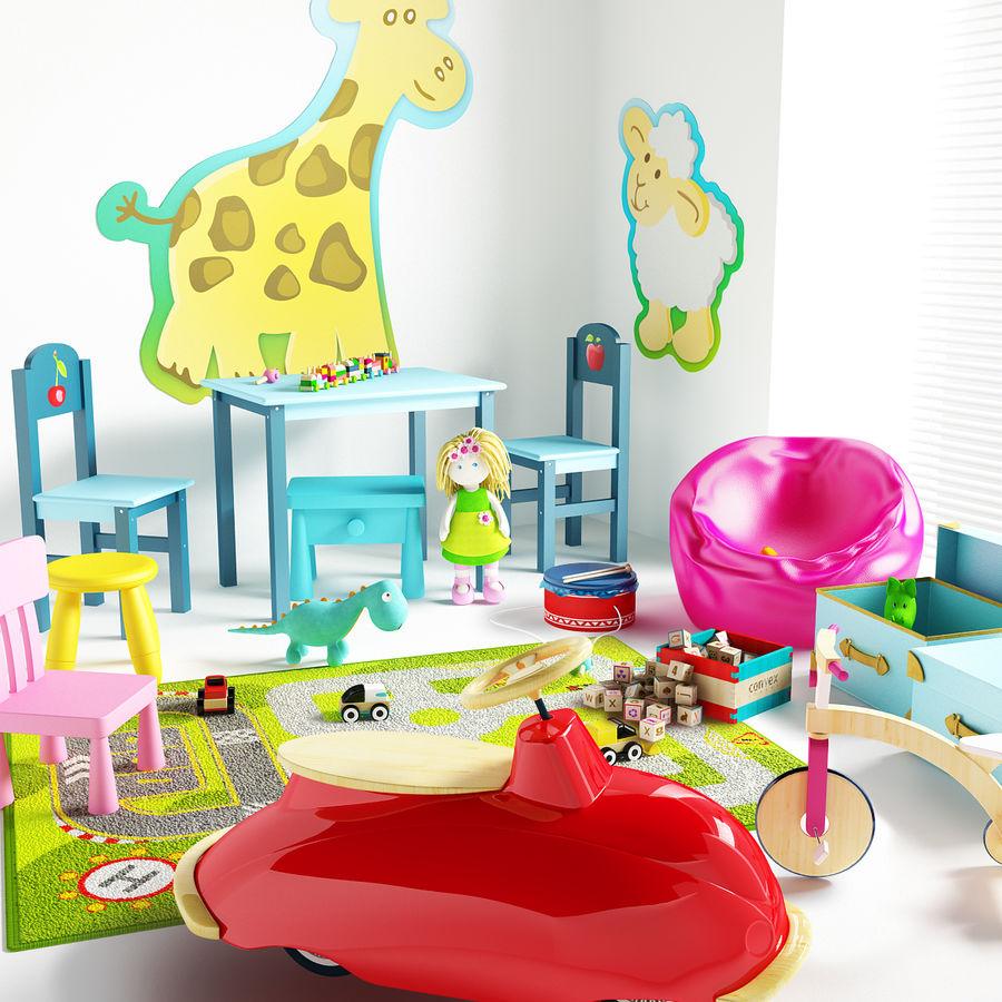 Cadeiras para crianças royalty-free 3d model - Preview no. 4