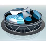 Toekomstige huislounge 3d model