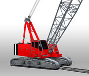 Żuraw stoczniowy 3d model