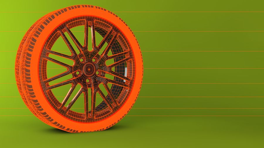 Wheels royalty-free 3d model - Preview no. 7