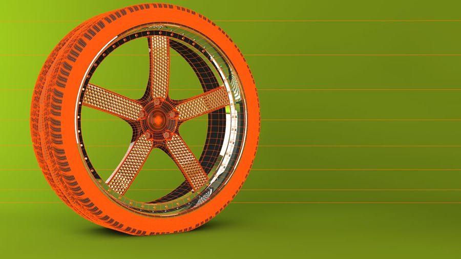 Wheels royalty-free 3d model - Preview no. 9