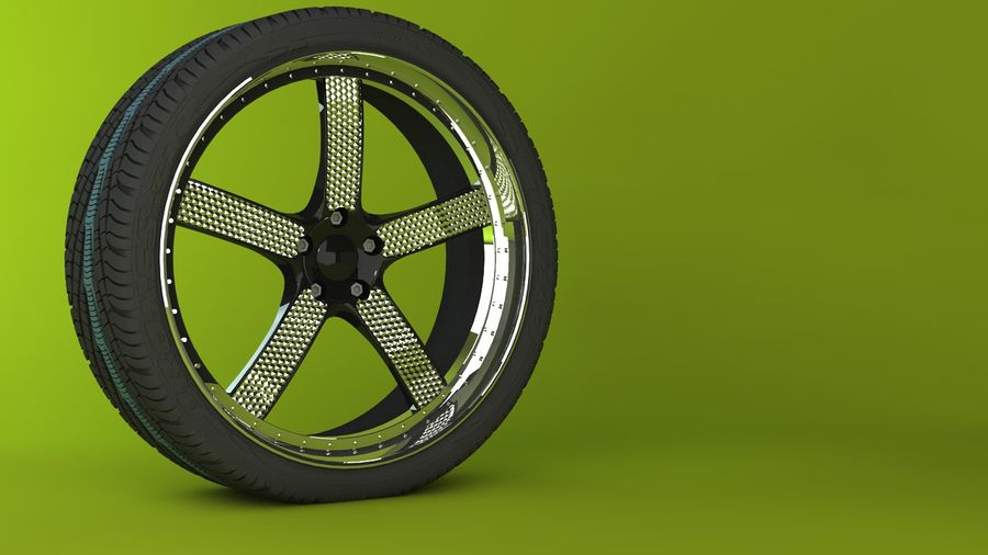 Wheels royalty-free 3d model - Preview no. 8