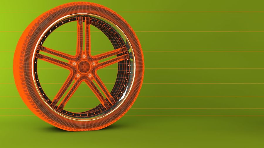 Wheels royalty-free 3d model - Preview no. 5