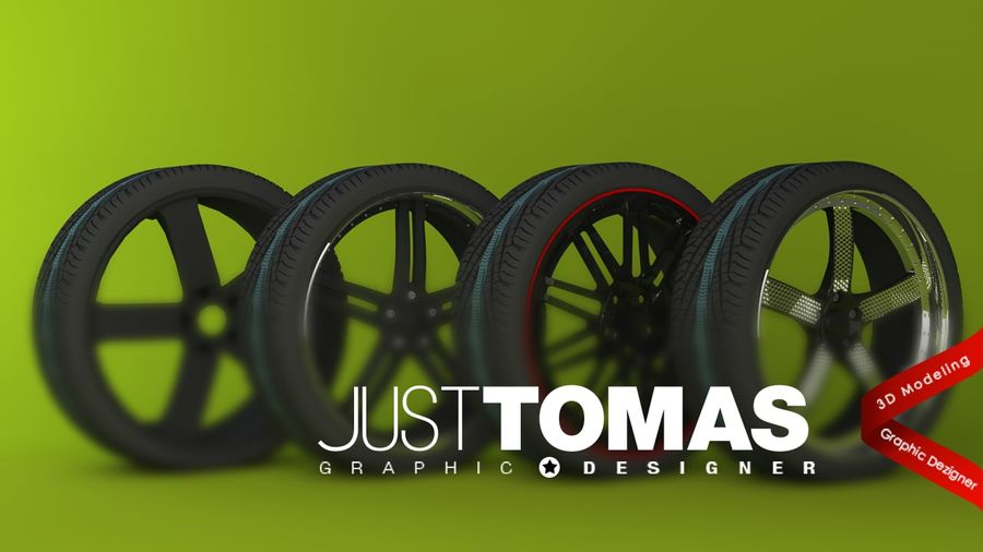 Wheels royalty-free 3d model - Preview no. 1