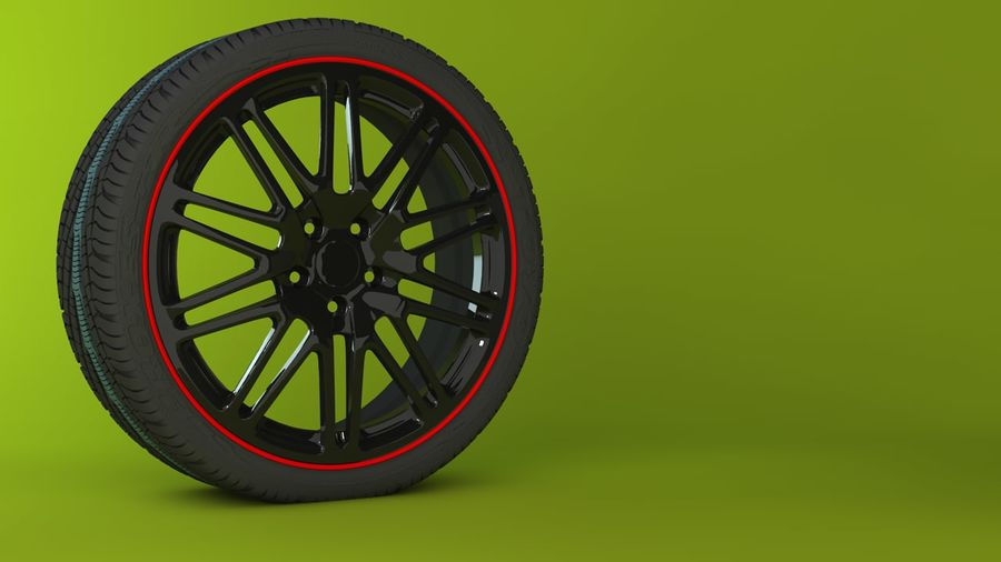 Wheels royalty-free 3d model - Preview no. 6