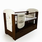 아기 침대 소년 3d model
