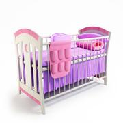 Baby Cot Girl 3d model