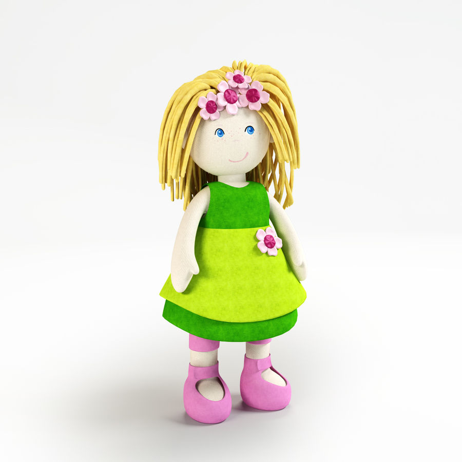 Doll royalty-free 3d model - Preview no. 1