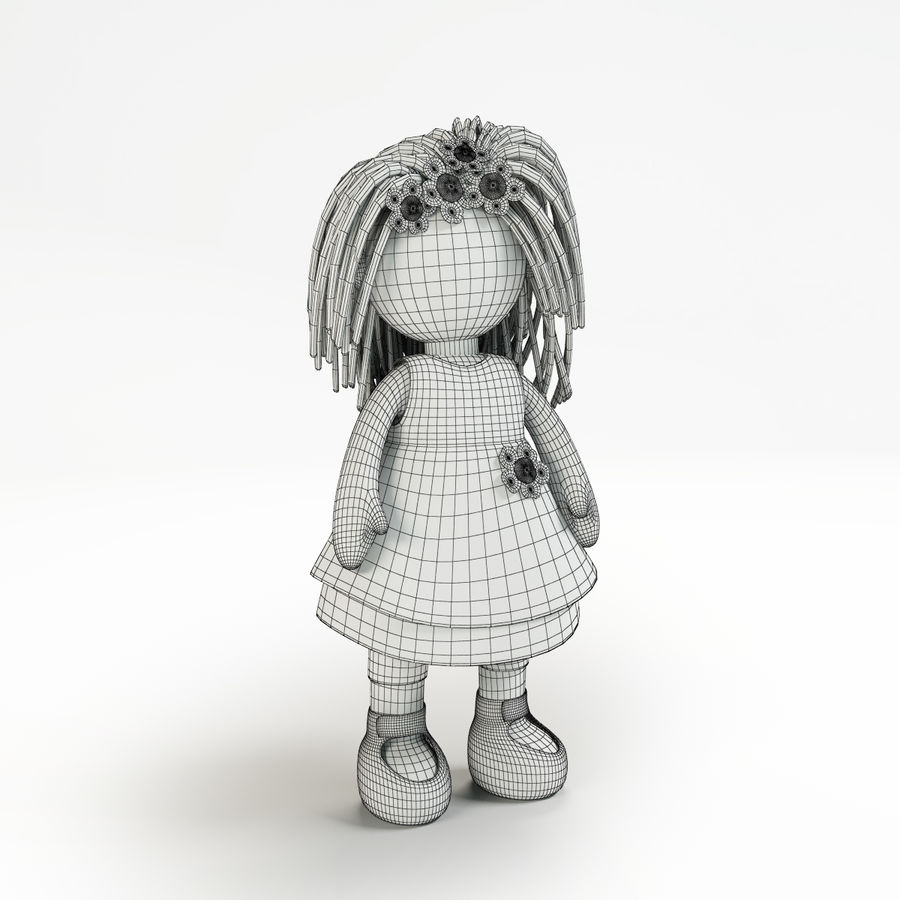 Doll royalty-free 3d model - Preview no. 2