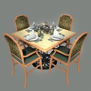 Традиционная обеденная обстановка 3d model