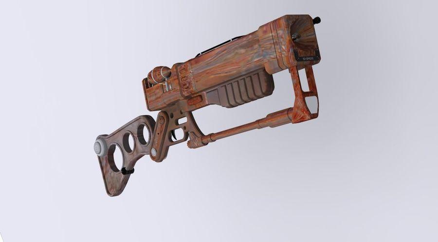 Gun : futuristic Rifle royalty-free 3d model - Preview no. 5