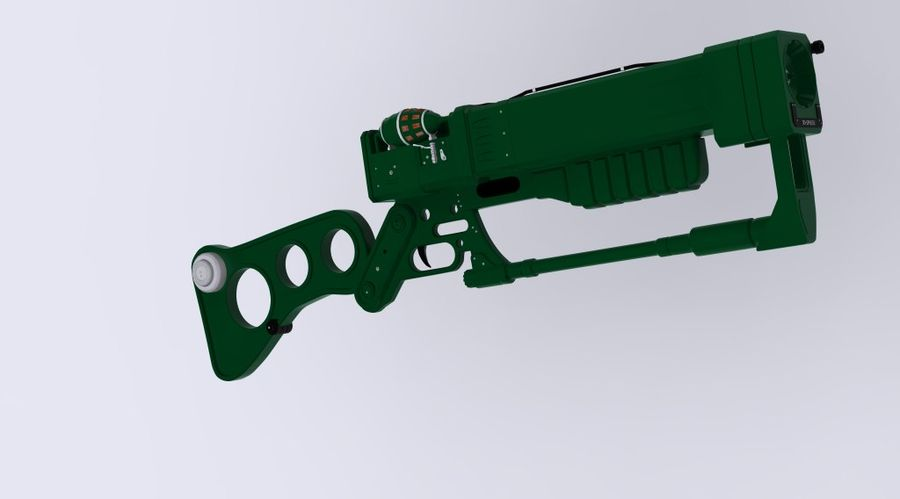 Gun : futuristic Rifle royalty-free 3d model - Preview no. 7