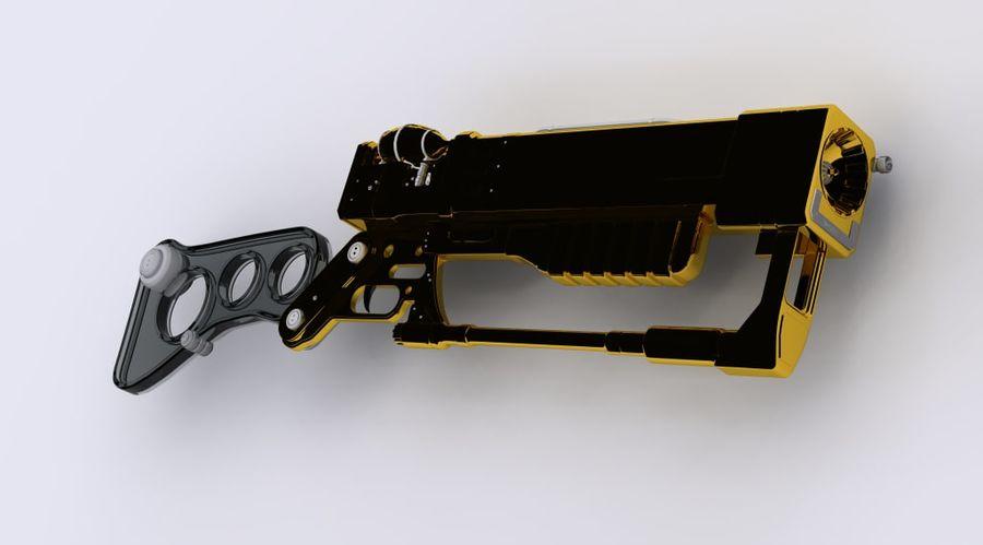 Gun : futuristic Rifle royalty-free 3d model - Preview no. 1