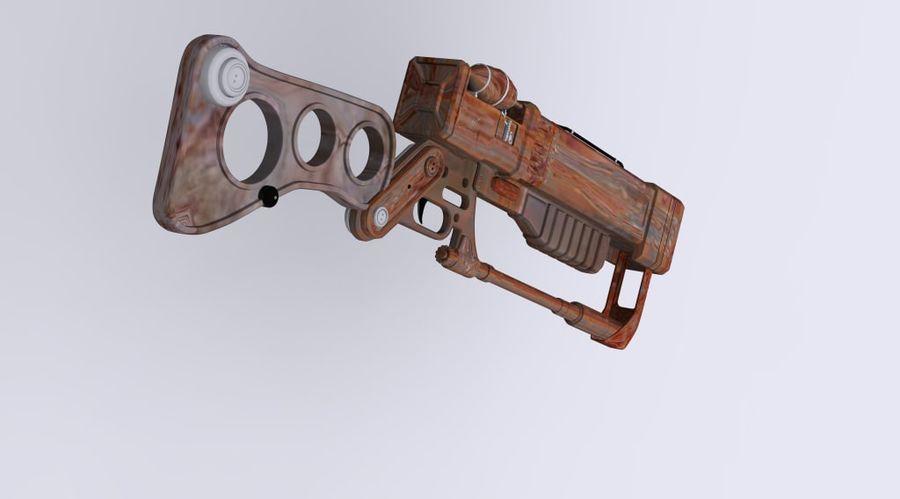 Gun : futuristic Rifle royalty-free 3d model - Preview no. 6