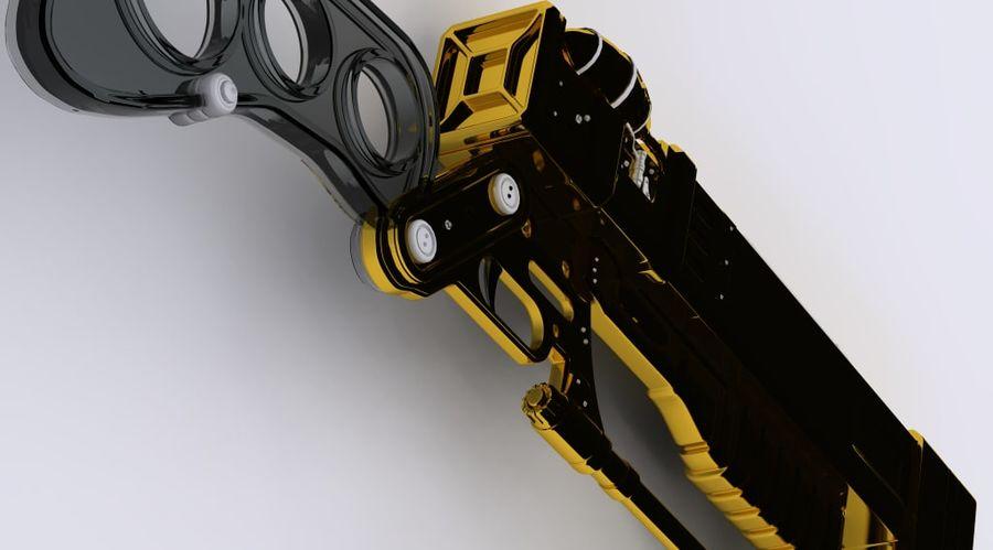 Gun : futuristic Rifle royalty-free 3d model - Preview no. 4
