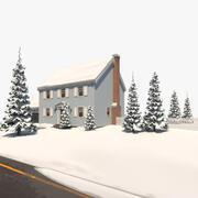 Casa di Natale 3d model
