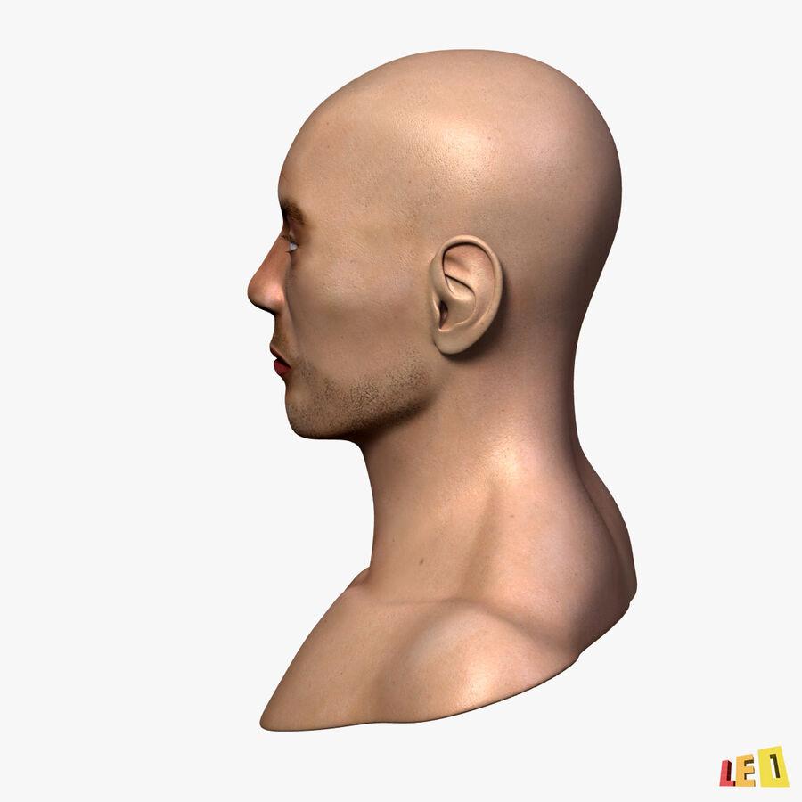 Anatomie complète de la tête masculine royalty-free 3d model - Preview no. 11