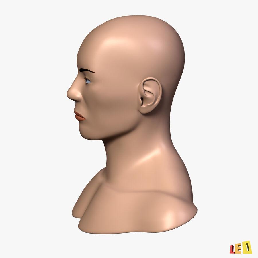 Anatomie complète de la tête masculine royalty-free 3d model - Preview no. 21